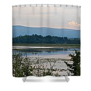 Lake Along Klondike Highway-yt Shower Curtain