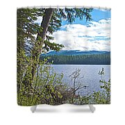 Lake Alva From National Forest Campground Site-yt Shower Curtain