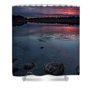 Lake Alvin Dusk Shower Curtain