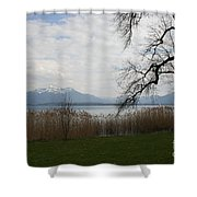 Lake And Mountains Shower Curtain