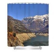 Lake And Snow-capped Mountain Shower Curtain
