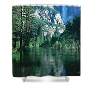 Lake And Trees, California Shower Curtain