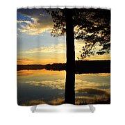 Lake At Sunrise Shower Curtain