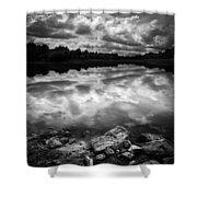 Lake Auburn Twilight Shower Curtain