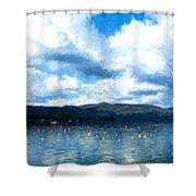Lake Background Shower Curtain
