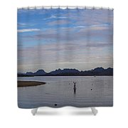 Lake Beach Shower Curtain