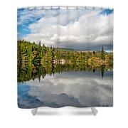 Lake Bodgynydd Shower Curtain