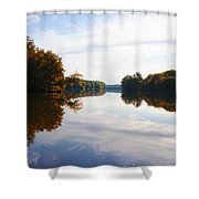 Lake Carnegie Princeton Shower Curtain