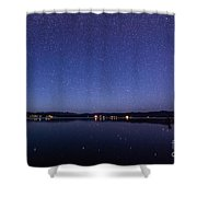 Lake Cascade Idaho By Night Shower Curtain