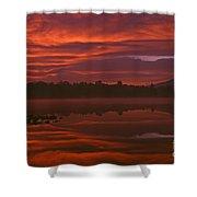 Lake Cassidy Draatic Sunrise Shower Curtain