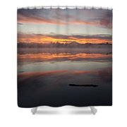 Lake Cassidy Reflections Dramatic Clouds Shower Curtain