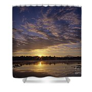 Lake Cassidy With Mount Pilchuck Shower Curtain
