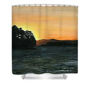 Lake Champlain Adirondack Mountains Vt/ny Shower Curtain