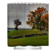 Lake Champlain Crown Point Panorama Shower Curtain
