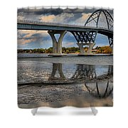 Lake Champlain New Bridge Shower Curtain