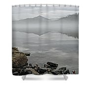 Lake Chatuge Mirror Image Shower Curtain