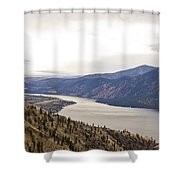 Lake Chelan From Above Shower Curtain