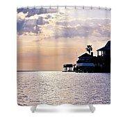 Lake Como On The Gulf Coast Sunset Shower Curtain