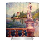 Lake Como View Shower Curtain