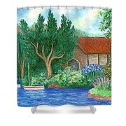 Lake Cottage Shower Curtain