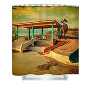 Lake Delores Water Park 2 Shower Curtain