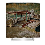 Lake Delores Water Park Shower Curtain
