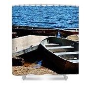 Lake Dock Shower Curtain