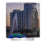 Lake Eola Water Fountain  Shower Curtain