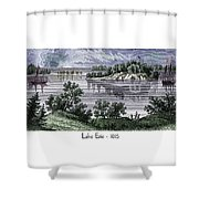 Lake Erie - 1815 Shower Curtain