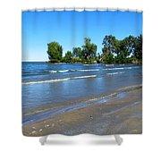 Lake Erie At Sheldon Marsh 2 Shower Curtain