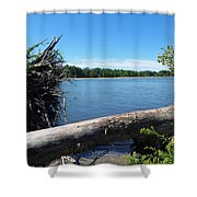 Lake Erie At Sheldon Marsh  Shower Curtain