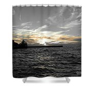 Lake Erie Lights Shower Curtain