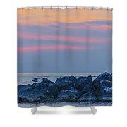 Lake Erie Twilight 2014 Shower Curtain