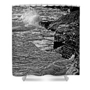 Lake Erie Waves Shower Curtain