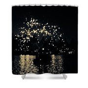 Lake Fireworks Shower Curtain
