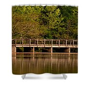 Lake Forest Bridge Shower Curtain