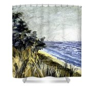 Lake From The Dunes Shower Curtain