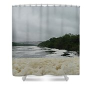 Lake Froth Shower Curtain