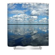 Lake Full Of Clouds Shower Curtain