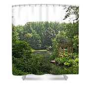 Lake Gazebo Shower Curtain