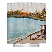 Lake Geneva Shoreline Shower Curtain