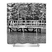 Lake Greenwood Pier Shower Curtain