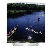 Lake Guiding Sports Fishing Shower Curtain