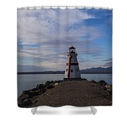 Lake Havasu Lighthouse Shower Curtain