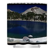 Lake Helen At Mt Lassen Triptych Shower Curtain by Peter Piatt