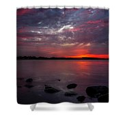 Lake Herman Sunset Shower Curtain