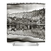 Lake House Reflection Shower Curtain by Ron White