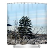 Lake Huron Landscape Shower Curtain