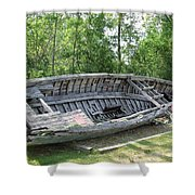 Lake Huron Relic Shower Curtain