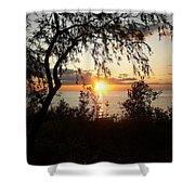 Lake Huron Setting Sun Shower Curtain